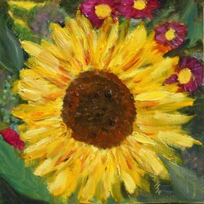 """""""Sunflower 2"""" original fine art by Jane Frederick"""