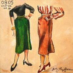 """Vintage Skirts"" original fine art by JoAnne Perez Robinson"
