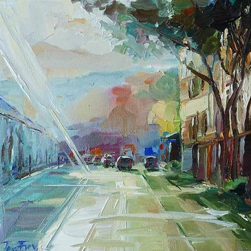 """the morning"" original fine art by Jurij Frey"