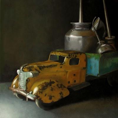 """Oiler  8x8"" original fine art by M Collier"