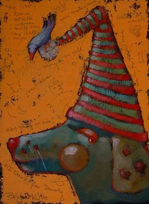 """Naughty Or Nice?"" original fine art by Brenda York"