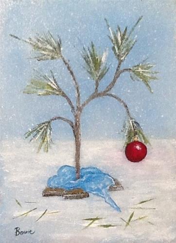 """O' Christmas Tree"" original fine art by Maureen Bowie"