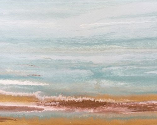"""Abstract Seascape Painting Coastal Abstract-Study # 6 by Colorado Contemporary Artist Kimberly Con"" original fine art by Kimberly Conrad"