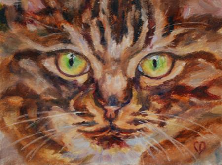 """Bright Eyes"" original fine art by Carol DeMumbrum"