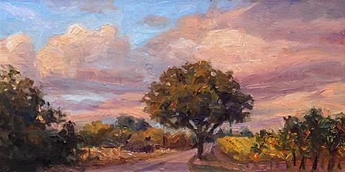 """Green Valley Oak"" original fine art by Michael Coy"