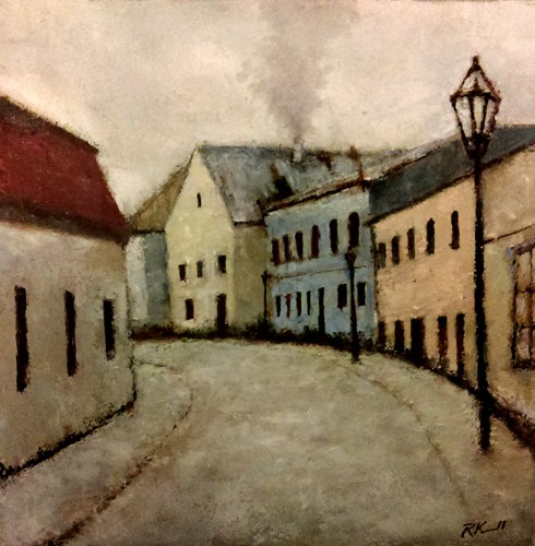 """""""An Old Street"""" original fine art by Bob Kimball"""
