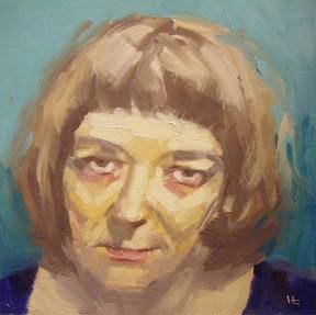 """""""FACE-IT   #12"""" original fine art by Helen Cooper"""