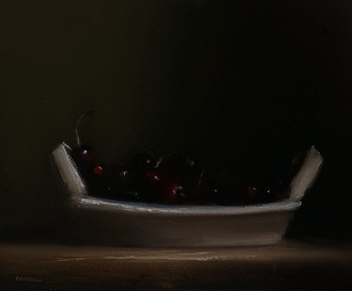 """Plate of Cherries"" original fine art by Neil Carroll"