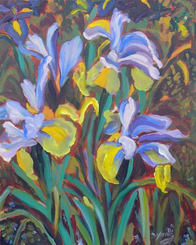 """Vincent's Irises"" original fine art by Darlene Young"