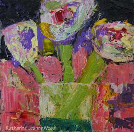 """Flower Series No 48"" original fine art by Katie Jeanne Wood"
