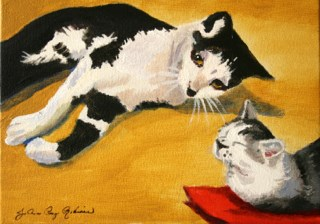 """Buddies"" original fine art by JoAnne Perez Robinson"