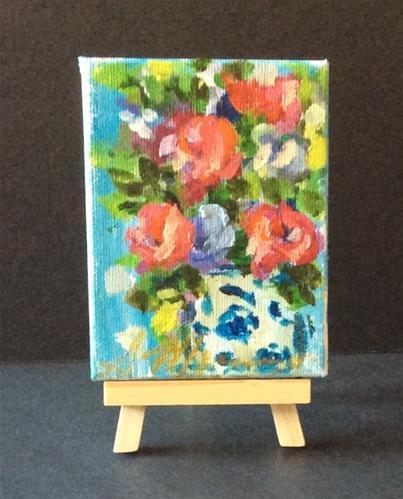 """""""Ming vase"""" original fine art by Susie Monzingo"""