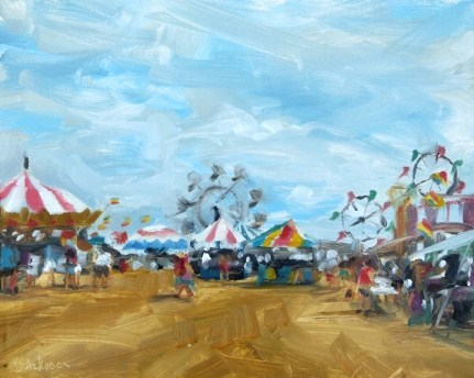 """Oil Painting of the County Fairgrounds"" original fine art by Deb Anderson"