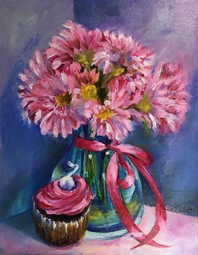"""Too Pretty to Eat!    11 x 14, Oil, Floral"" original fine art by Donna Pierce-Clark"