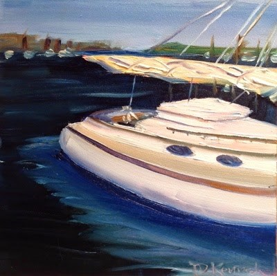 """Barnstable Harbor 2"" original fine art by Debra Kennedy"