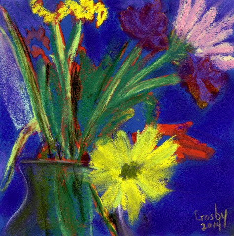 """A Bloom Away"" original fine art by Donna Crosby"