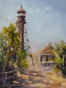 """Sanibel Island – Lighthouse"" original fine art by Christa Friedl"