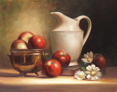 """Apple Cider #701"" original fine art by Dee Lessard"