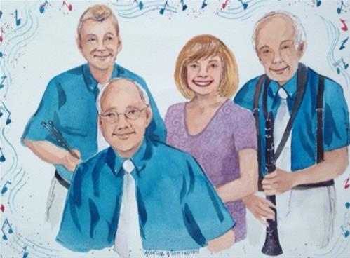 """The Diamond Group"" original fine art by Margie Whittington"