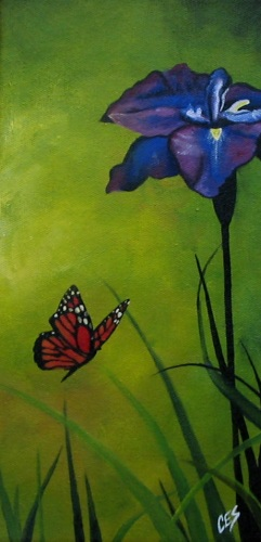 """The Iris and the Monarch"" original fine art by ~ces~ Christine E. S. Code"