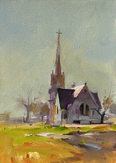 """New Sweden Church --- Sold"" original fine art by Qiang Huang"