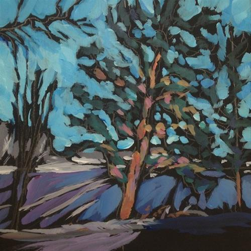 """Afternoon Tree Light"" original fine art by Kat Corrigan"