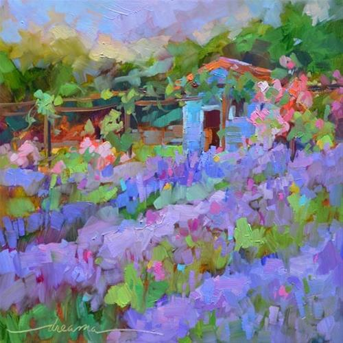 """Second Chance for France and The Magic of Lavender"" original fine art by Dreama Tolle Perry"