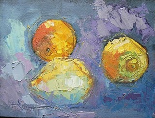 """A Gathering of Lemon"" original fine art by Carol Schiff"