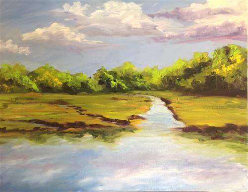 """""""Cape Marsh '16"""" original fine art by Debra Kennedy"""