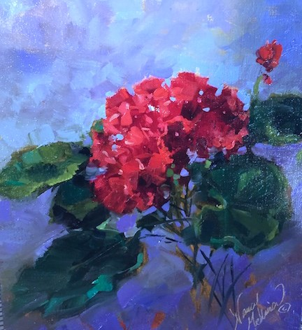 """Thunder in Tuscany and 1000 Years of Prayer - Nancy Medina Art Classes and Workshops"" original fine art by Nancy Medina"