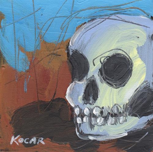 """Fall Skull #6"" original fine art by George Kocar"