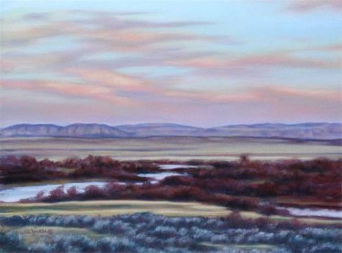 """View from River Road"" original fine art by Carol Zirkle"