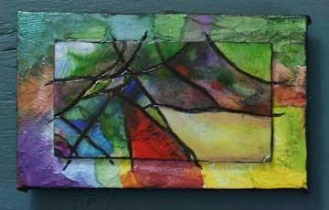 """""""Green Mountain Abstract"""" original fine art by Kara Butler English"""