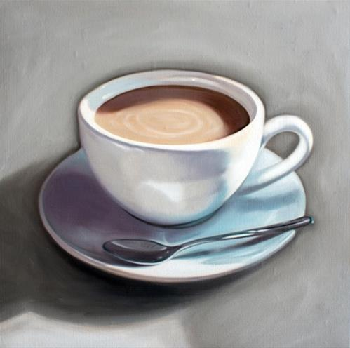 """Cup of Coffee"" original fine art by Lauren Pretorius"