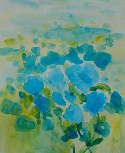 """Field of Blue"" original fine art by Pamela Munger"