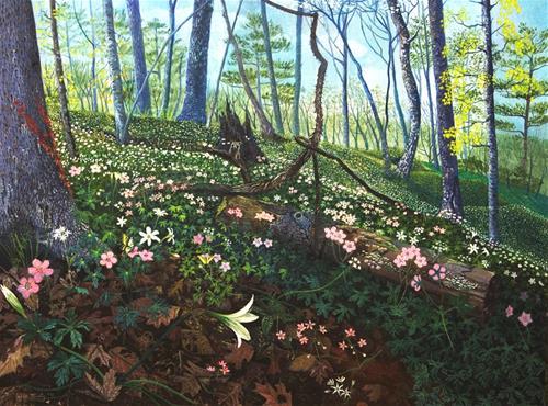 """Cape Fear Spring"" original fine art by Alan Mintz"
