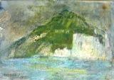 """""""White Cliffs"""" original fine art by Nancy Hall"""
