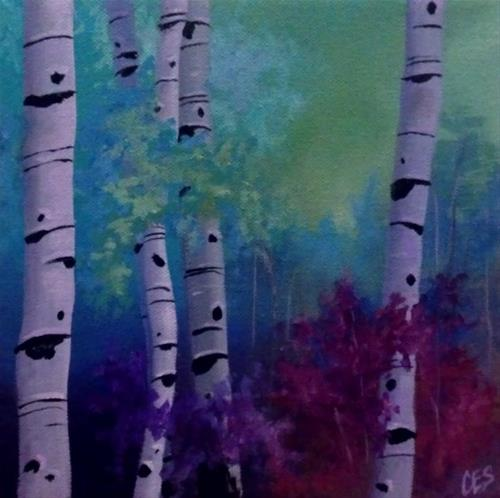 """Enchanted Birch"" original fine art by ~ces~ Christine E. S. Code"