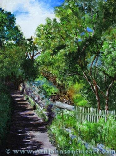 """Jersey Path"" original fine art by Nan Johnson"