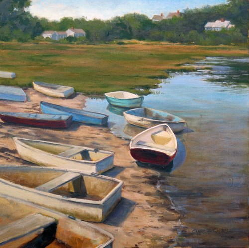 """""""'Drifters' An Original Oil Painting by Claire Beadon Carnell"""" original fine art by Claire Beadon Carnell"""