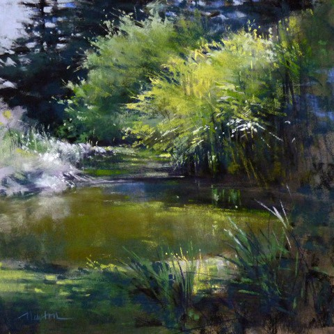 """""""Garden Pond"""" original fine art by Barbara Benedetti Newton"""