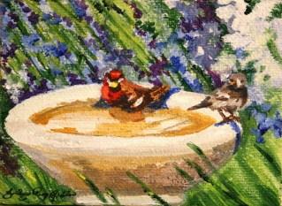 """""""Lavender Spa"""" original fine art by JoAnne Perez Robinson"""