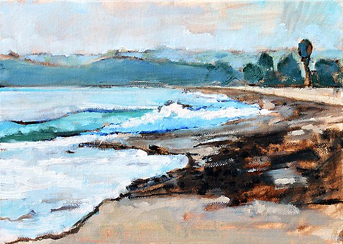 """Capistrano Beach, Dana Point California"" original fine art by Kevin Inman"