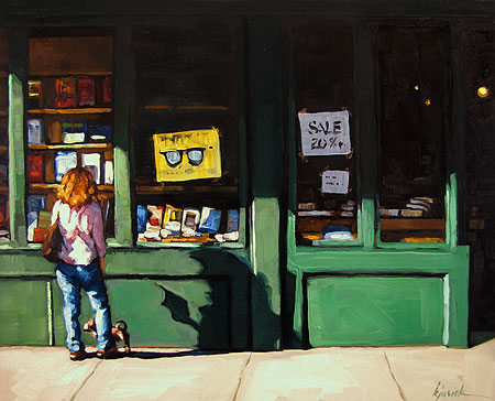 """Bleecker Books"" original fine art by Karin Jurick"