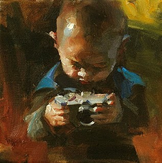 """Wow! Cool! --- Sold"" original fine art by Qiang Huang"