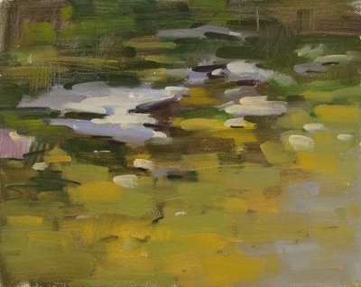 """Salado Creek 2 - morning"" original fine art by Carol Marine"