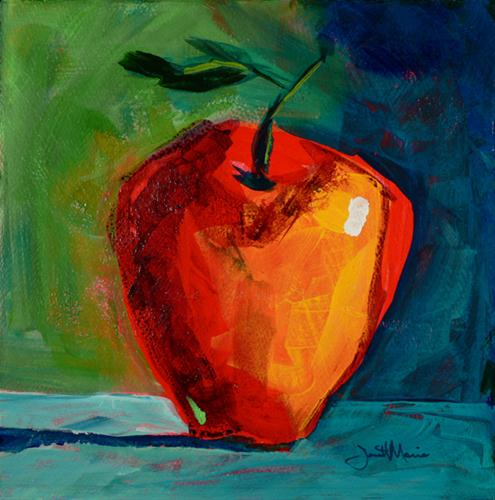 """Apple #28"" original fine art by - JanettMarie"