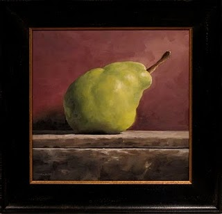 """Leaning Pear"" original fine art by Michael Naples"