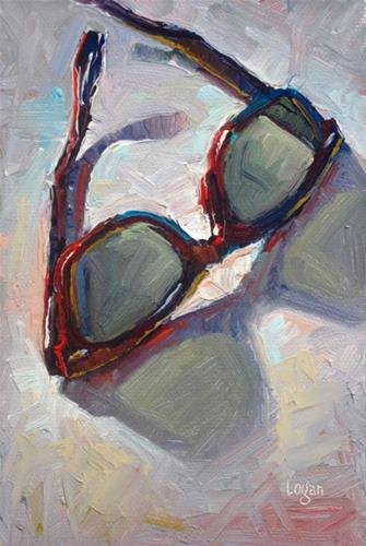 """My New Shades"" original fine art by Raymond Logan"