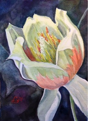 """""""Day 18 - Tulip Poplar"""" original fine art by Lyn Gill"""
